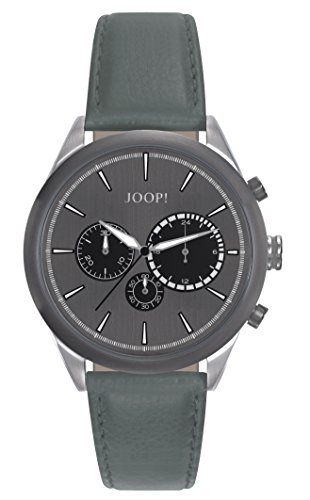 Montre Hommes Joop! Quartz - Affichage Chronographe Bracelet Cuir Vert et Cadran Gris JP101931005
