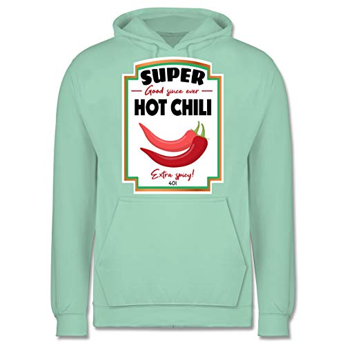 Karneval & Fasching - Hot Chili Soße Kostüm - L - Mint - JH001 - Herren Hoodie (Herr Mint Kostüm)