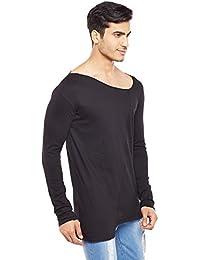 FUGAZEE Unbalanced Neck T-Shirt