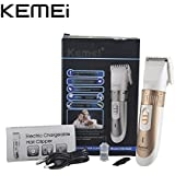 KEMEI KM-9020 Electric Hair Clipper Kemei Rechargeable Beard Trimmer With Comb Hair Cutting Machine For Men Haircut...