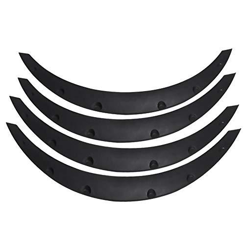 4 Pezzi Passaruota Sopracciglio, Universali Parafango Universale per Auto Protezione Sopracciglio Parafanghi Flares Arches Wheel Protecto
