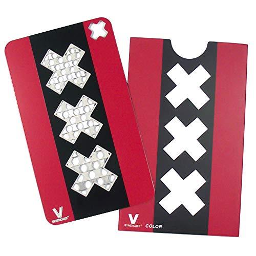 V-Syndicate Grinder Card - Amsterdam - Die perfekte Mühle/Grinder/Reibe im Scheckkartenformat (Grinder Kann)