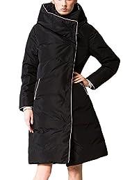 Mcitymall77 Elegante Cappotti Donna Piumino Manica Spesso Con Cappuccio da  Donna Giubbino Imbottito Invernale Calda Giacca 4176248c28a