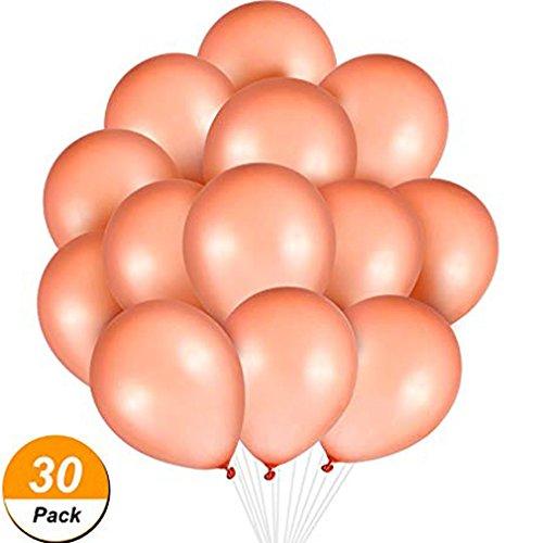 (BTTBEST 30 Stück Rose Gold Luftballons Latex Luftballons Geburtstag Party Baby Shower Hochzeit Dekoration Ballons, 12 Zoll)