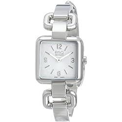 ESQ 7101420 23mm Silver Steel Bracelet & Case Mineral Women's Watch