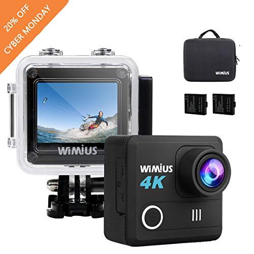 Videocamera per sport estremi, subacquea, 4K, WiFi, impermeabile, 20MP, attaccabile al casco, con accessori per bici/moto/immersioni