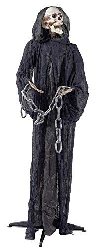 Halloween Skelett Sensenmann Figur ca. 170 cm | knuellermarkt.de | lebensgroß Animation Deko gruselig