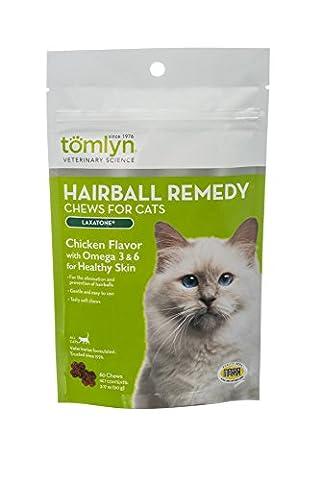 Tomlyn Laxatone Soft Chews Hairball Formula Cat Treat 60 Count Healthy 3.17oz