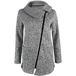 MORCHAN❤Femme Automne Hiver Manteau Veste à Capuche Hoodie Shirt Casual Jumper Sport Hauts Tops Pullover Blouse Blouson Sport Sweat Sweatshirt (FR-50/CN-2XL,Gris-1)