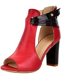 b2fe93ffb9099 Worsworthy Sandalo Bianco Basso Scarpe con Cinturino alla Caviglia Donna  Sandali Zeppa Eleganti Sandali con Cinturino