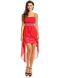 Abendkleid rot mit strass