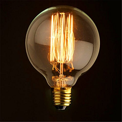 Globe 80/95/125 Vintage Light Bulb Filament Edison Style E27 Screw:  Amazon.co.uk: DIY u0026 Tools