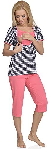 Be Mammy Femme Allaitement Ensemble de Pyjama Rita Corail