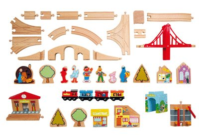 Circuit De Train En Bois, De 116 Pieces [Jouet]