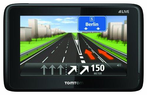 TomTom GO LIVE 1005 Navigationssystem (13 cm (5 Zoll) Fluid Touch Display, HD Traffic, Google, Bluetooth, Parkassistent, Europa 45) (Steuern Fluid)