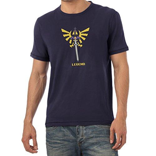 TEXLAB - Pixel Legend - Herren T-Shirt Navy