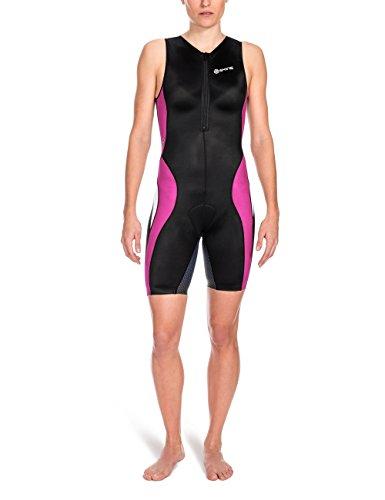 Skins Damen Sportkompressionstextilien Tri 400 Womens Skinsuit W Front Zip Black/Orchid, L