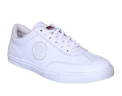 M & M Products Men's White Sneakers(6 Uk)