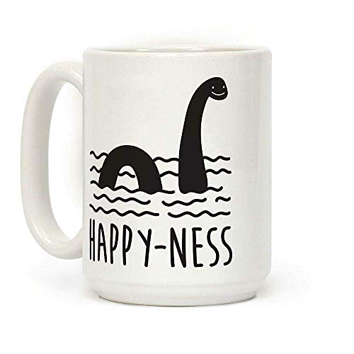 Happy-Ness Loch Ness Monster Ceramic Travel Mug Home Tea Coffee Cup Gifts