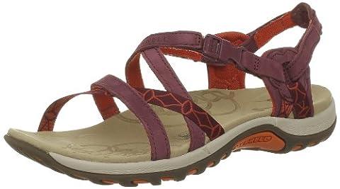 Merrell Jacardia, Women's 's Slip-On Casual Sandals - Port, 3