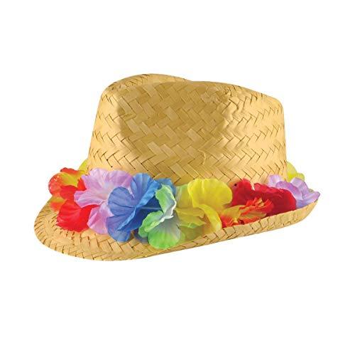 Islander Fashions Herren Damen Cowboy Clown Topper H�te Unisex Stroh Gangster Topper Baskenm�TZE H�te (Gangster Strohhut) One Size