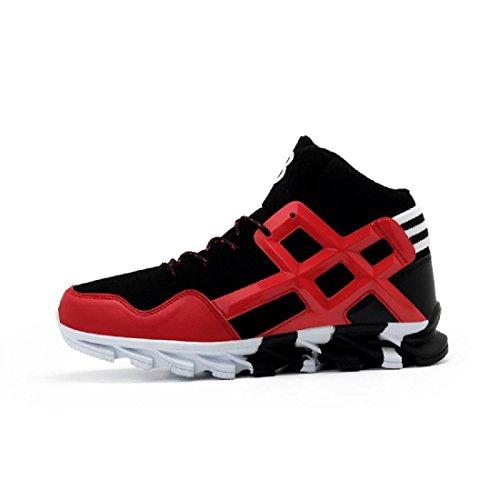 Hommes Chaussures de sport Antidérapant Respirant Augmenté Entraînement Chaussures de course Baskets Red
