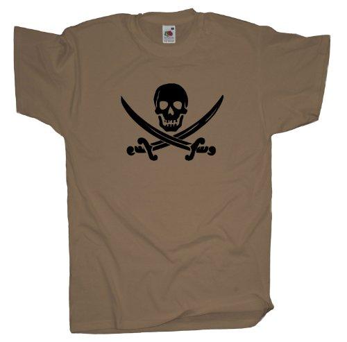 Ma2ca - Pirat Fasching T-Shirt Khaki