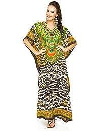 New Ladies Oversized Maxi Kimono Kaftan Tunic Kaftan Dress Free Size e38f48a86
