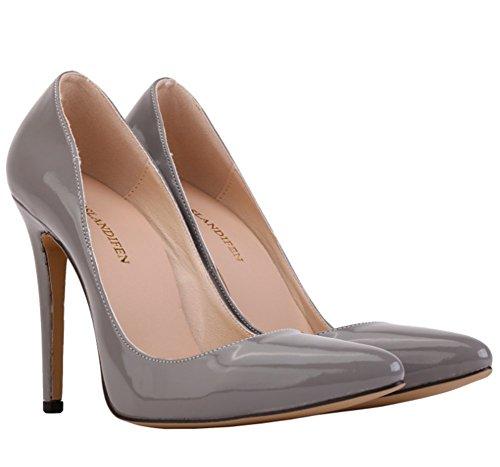 Wealsex Elegante Bonbonfarben Stiletto Damen Pumps Stiletto High Heels 2017 Frühling und Sommer Schuhe Grau