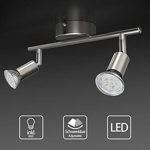 Uchrolls Foco LED para techo I 2 vías lamparas de techo led I Luz de techo I Orientable y giratoria...