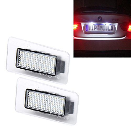 DIMDIM LED Kennzeichenbeleuchtung mit 18 SMD-3528 Lampen für Hyundai, 2W 120LM, 6000K, DC12V 2PCS