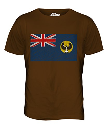 CandyMix South Australia Kritzelte Flagge Herren T Shirt Braun