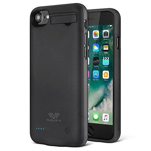 Cover Batteria iPhone 7, SAVFY 3000mAh Custodia Cover Protettiva con Batteria Esterna integrata per iPhone 7 4.7'' Battery Charger Case (Nero)
