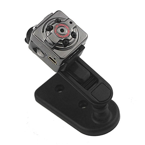 Mengshen Full HD 1080P 30fps Pocket Digital Video Recorder Kamera Camcorder Ultra-Mini Metall DV Support Motion Erkennung mit IR Nachtsicht MS-SQ8Black