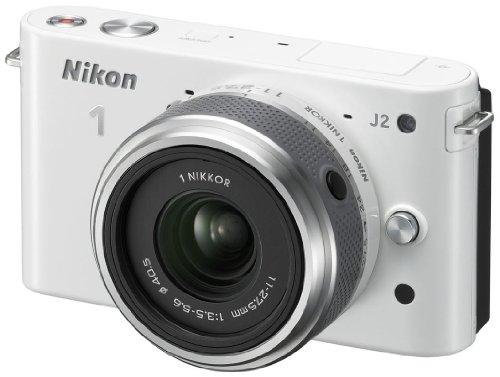 Nikon 1 J2 Systemkamera (10,1 Megapixel, 7,5 cm (3 Zoll) Display) Kit inkl. Nikkor 11-27,5 mm weiß - 2