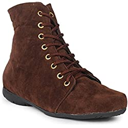 Beautiful Brown color Velvet women's boots from Sheneya::SB_BROWN_38