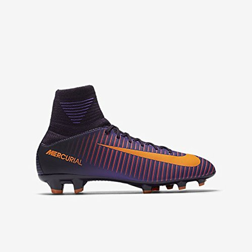 Nike Mercurial Superfly V Junior, Chaussures de Football Garçon Multicolore (Purple Dynasty/Hyper Grape/Total Crimson/Bright Zitrus)