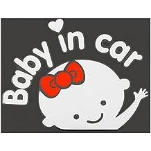 3D coche pegatinas reflectantes vinilo Styling beb¨¦ en calentamiento de coches parabrisas de coche autoadhesivo para beb¨¦ a bordo en la parte trasera