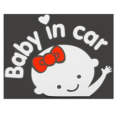 3D Cartoon Auto Aufkleber Reflektierende Vinyl-Styling-Baby im Auto Erwärmung Auto Aufkleber Baby on Board auf hinten Windschutzscheibe Women (Autos Aufkleber Windschutzscheibe)