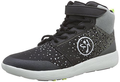 Zumba Footwear - Zumba Court Flow High, Scarpe da Ginnastica da Donna, Grigio (Black/Graphite), 35.5