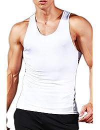 Amazon camicie bodybuilding e it polo T shirt Bianco canotta PxwrBP