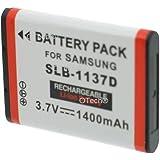 Otech D129SN Batterie pour Appareil Photo Numérique de type Samsung SLB-1137D 3,7 V 1400 mAh