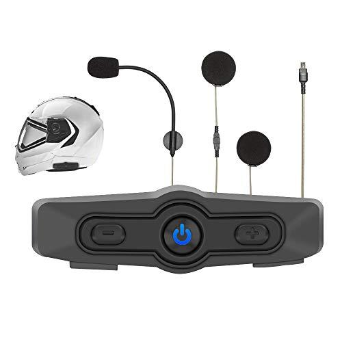 Albrecht BPA 400 Motorrad Bluetooth Kommunikationseinheit zum Musikhören, Telefonieren und für Navi-Ansagen 400 Bluetooth