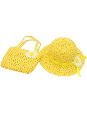 YOPINDO Baby Straw Sun Hat Beach Cap con bolso Dress Up Hat Set de bolso 8 color