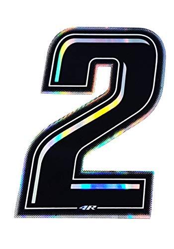 quattroerre 13242Número Racing 2, Negro, 10x 6,5cm