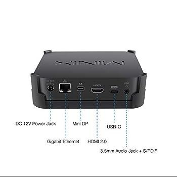 MINIX NEO J50C-4, 64GB Intel Pentium Silver Mini PC with Windows 10 Pro (64-bit) [4G DDR4 Upgrabedable to 16GB/Dual-Band Wi-Fi/Gigabit Ethernet/4K @ 60Hz/Triple Display/USB-C/Auto Power On/Vesa Mount]