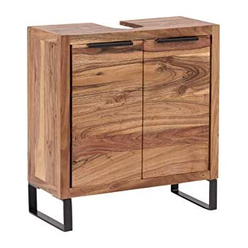 Woodkings® Waschbeckenunterschrank Sydney Echtholz Akazie