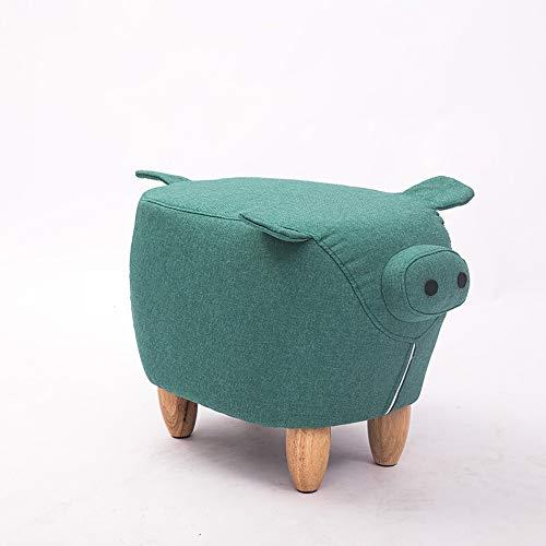 Schuh ändern Hocker Lagerung Massivholz-Schwein Hocker Karikatur Sitzen Hocker Kreative Tuch Kleine Bank Persönlichkeit Heimtierschuh Hocker Mehrfarben Optional Fuß Hocker