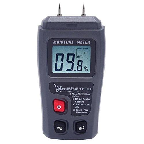 CICMOD Digital Feuchtigkeit Messgerät Detektor Feuchter für Holz Ziegel Humidity Caravan LCD - Ziegel Zeigen