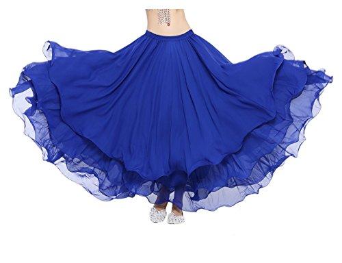 Dance Fairy Marke Dark Blue Chiffon drei Schichten Schwingen Maxi langen Rock Party (nicht enthalten den Gurt oder (Kostüm Kurse Design)
